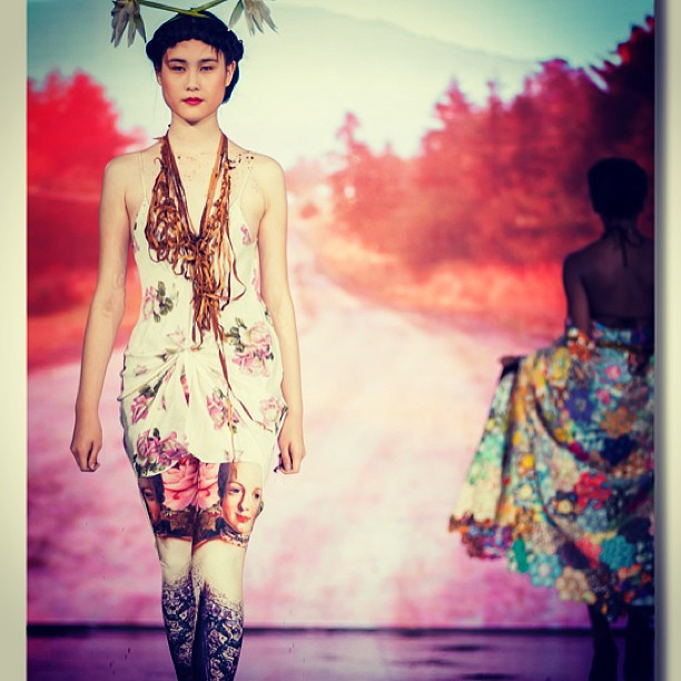 Our leggings on the runway!