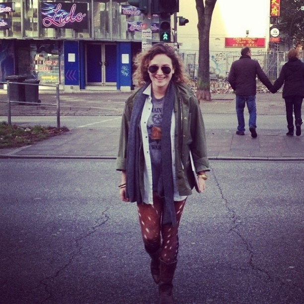Birthday girl @leather_tuscadero rockin' our #bambi #leggings on the streets of #Hamburg