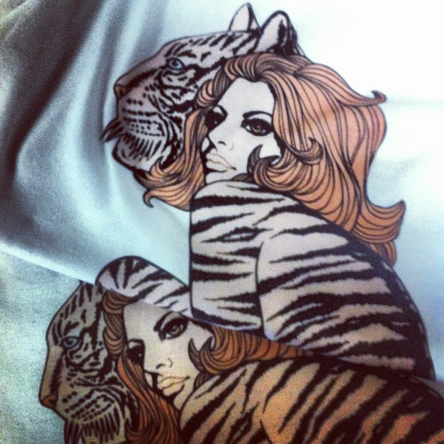 Wasting the night away making these #Tigergirl #Tees...????????????