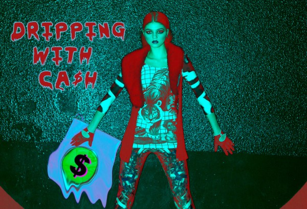 Dripping with Cash teal - new low prices
